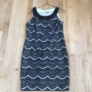 Dress Barn Black and White Lace Dress